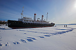 The Ice breaker Angara was sailing from Irkoutsk to the west part of Baikal lake at the beginning of the XXth century before the construction of the road Irkoutsk chita..Le brise glace Angara reliait Irkoutsk à la rive orientale du Baïkal vant la construction du transsibérien Irkoutsk Chita.