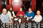 75th Birthday: Kathleen O'Donnell  Ennismore, Listowel, (centre) celebrating her 75th birthday with her brother Jimmy Griffin, daughters  Sharon and Catherrine and sister in law Mary Griffi at Lawlors Bar , Listowel on Friday night.