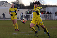 Connie Yorstonof Oxford United Ladies during Tottenham Hotspur Ladies vs Oxford United Women, FA Women's Super League FA WSL2 Football at Theobalds Lane on 11th February 2018