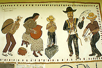 Mural in the Lenca Indian village of La Campa, Lempira, Honduras