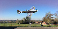 BNPS.co.uk (01202 558833)<br /> Pic: SecretSpitfires/BNPS<br /> <br /> The proposed memorial near the site the completed Salisbury Spitfires flew off to the squadrons from.<br /> <br /> A campaign to build a memorial to honour the women and children who built over 2,000 Spitfires in secret to help win the Second World War has been launched.<br /> <br /> The little-known operation involved just a few hundred people who operated in requisitioned car garages, factories and workshops in the city of Salisbury.<br />  <br /> They built the legendary aircraft in piecemeal and worked with such discretion that the Wiltshire city's inhabitants were oblivious to it. <br /> <br /> The unsung workers were so prolific they accounted for one tenth of all Spitfires produced during the war.