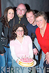 CAKE: Having a great birthday in ODonnells Bar & Restaurant, Mounthawk, on Friday evening was Sinead Moriarty of Marian Park, along with Carol Caufield, Howard Sherman, Kenneth Leahy and Mom Kathleen Moriarty..