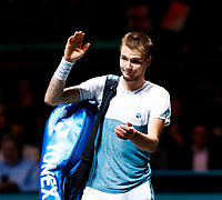 Rotterdam, The Netherlands, 9 Februari 2020, ABNAMRO World Tennis Tournament, Ahoy, Alexander Bublik (KAZ).<br /> Photo: www.tennisimages.com