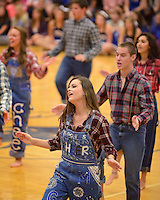 NWA Democrat-Gazette/BEN GOFF @NWABENGOFF<br /> Emily Walker, senior, and the Rogers High FX Show Choir performs on Friday Sept. 18, 2015 during the homecoming ceremony at Rogers High School.