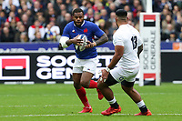 2nd February 2020, Stade de France, Paris; France, 6-Nations International rugby union, France versus England;  Virimi Vakatawa (France) is covered by Englands Manu Tuilagi