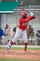 GCL Cardinals left fielder Terry Fuller (32) at bat during a game against the GCL Mets on July 23, 2017 at Roger Dean Stadium Complex in Jupiter, Florida.  GCL Cardinals defeated the GCL Mets 5-3.  (Mike Janes/Four Seam Images)