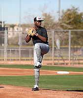 Marquis Grissom Jr participates in the 2020 MLB Dream Series on January 17-20, 2020 at the Los Angeles Angels training complex in Tempe, Arizona (Bill Mitchell)