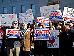 Augusta, Maine, USA, 6 Jan 2016, Supporters of Gov. Paul LePage at a rally regarding impeachment, ©Kevin Shields/Alamy Live News