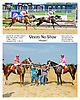 Kelly Breen entry running 1 & 2 Vegas No Show winning and Kentucky Pie running second at Delaware Park on 7/26/12