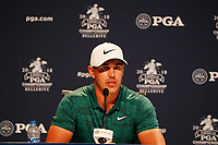 Brooks Koepka (USA) speaks to the media after winning the 100th PGA Championship at Bellerive Country Club, St. Louis, Missouri, USA. 8/12/2018.<br /> Picture: Golffile.ie | Brian Spurlock<br /> <br /> All photo usage must carry mandatory copyright credit (&copy; Golffile | Brian Spurlock)