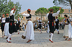 Croatie. Traditional dances (mreska) on sunday morning. Saint Nicolas place at Cilipi (south of Dubrovnik) /Croatia