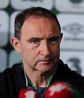 24th May 2014;  Republic of Ireland Manager, Martin O'Neill during a press conference ahead of their 3 International Friendly against Turkey on Sunday. Republic of Ireland Press Conference, Airside Ford, Swords, Co. Dublin. Picture credit: Tommy Grealy/actionshots.ie.