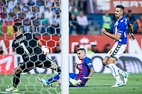 Fernando Pacheco of Club Deportivo Alaves and Lucas Digne during the match of  Copa del Rey (King's Cup) Final between Deportivo Alaves and FC Barcelona at Vicente Calderon Stadium in Madrid, May 27, 2017. Spain.. (ALTERPHOTOS/Rodrigo Jimenez) /NortePhoto.com