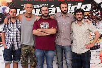 24.07.2012. Presentation at the Madrid Film Academy of the movie 'Impavido&acute;, directed by Carlos Theron and starring by Marta Torne, Selu Nieto, Nacho Vidal, Carolina Bona, Julian Villagran and Manolo Solo. In the image Selu Nieto, Nacho Vidal, Carlos Theron, Julian Villagran and Manolo Solo (Alterphotos/Marta Gonzalez) /NortePhoto.com*<br />