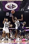 COLUMBUS, OH - APRIL 1: Jordan Danberry #24 of the Mississippi State Bulldogs, Teaira McCowan #15 of the Mississippi State Bulldogs and Arike Ogunbowale #24 of the Notre Dame Fighting Irish look for a rebound during the championship game of the 2018 NCAA Division I Women's Basketball Final Four at Nationwide Arena in Columbus, Ohio. (Photo by Justin Tafoya/NCAA Photos via Getty Images)