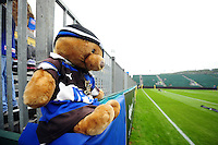 A general view of the Bath Rugby teddy bear. Aviva Premiership match, between Bath Rugby and Newcastle Falcons on September 10, 2016 at the Recreation Ground in Bath, England. Photo by: Patrick Khachfe / Onside Images