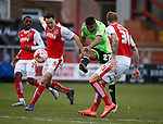 Dominic Calvert-Lewin of Sheffield Utd  fires in a shot on goal  - English League One - Fleetwood Town vs Sheffield Utd - Highbury Stadium - Fleetwood - England - 5rd March 2016 - Picture Simon Bellis/Sportimage