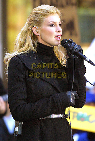 FAITH HILL ..Performs at Rockefeller Plaza as part of the TODAY Show Fall concert series...half length, half-lengh, singing, microphone, black gloves..www.capitalpictures.com..sales@capitalpictures.com..©Capital Pictures