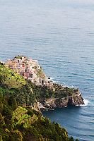 Village of Corniglia in Cinque Terra National Park, Italy