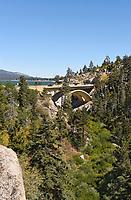 Highway 18 Bridge into Big Bear at Bear Valley Dam
