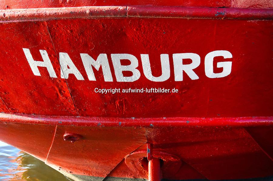 Hamburg Schriftzug: EUROPA, DEUTSCHLAND, HAMBURG, (EUROPE, GERMANY), 21.11.2013 Hamburg Schriftzug auf einem Schiff im Hamburger Hafen