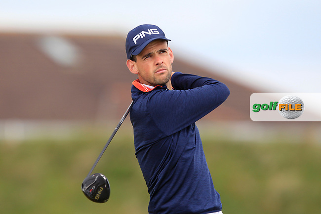 Paul Coughlan (Castleknock) on the 5th tee during Round 1 of the The Amateur Championship 2019 at The Island Golf Club, Co. Dublin on Monday 17th June 2019.<br /> Picture:  Thos Caffrey / Golffile<br /> <br /> All photo usage must carry mandatory copyright credit (© Golffile | Thos Caffrey)