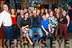 Neilus O'Shea from Tralee (seated centre) celebrating his 50th birthday in the Castle Bar on Saturday night. Seated l to r: Zoe Mulqueen, Neilus and Niall O'Shea.