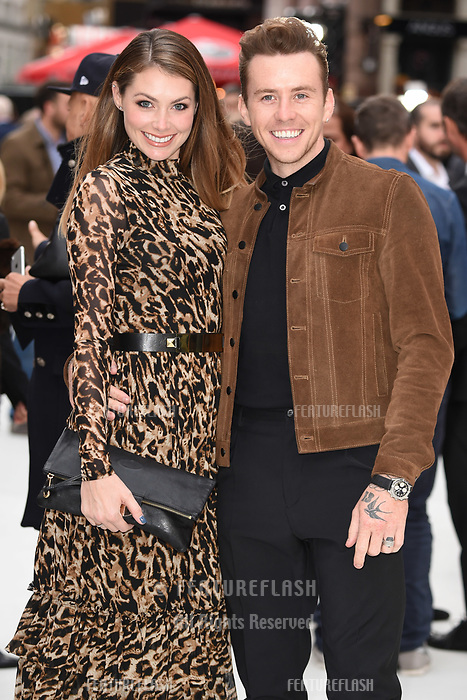 "LONDON, UK. September 12, 2018: Georgia Jones & Danny Jones at the World Premiere of ""King of Thieves"" at the Vue Cinema, Leicester Square, London.<br /> Picture: Steve Vas/Featureflash"