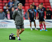 Lincoln City's assistant manager David Kerslake during the pre-match warm-up<br /> <br /> Photographer Andrew Vaughan/CameraSport<br /> <br /> The EFL Sky Bet League One - Lincoln City v Sunderland - Saturday 5th October 2019 - Sincil Bank - Lincoln<br /> <br /> World Copyright © 2019 CameraSport. All rights reserved. 43 Linden Ave. Countesthorpe. Leicester. England. LE8 5PG - Tel: +44 (0) 116 277 4147 - admin@camerasport.com - www.camerasport.com