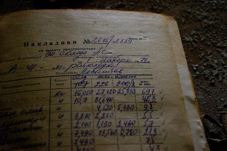 Soviet medical registrar, found in an old abandoned mental hospital