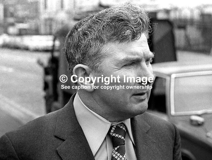 Frank Millar, MP, Ulster Unionist, N Ireland Parliament, Stormont, June 1975. 19750600FM<br />