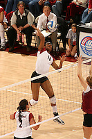 3 December 2005: Action during Stanford's 3-1 loss to Santa Clara University at Maples Pavilion in Stanford, CA.<br />