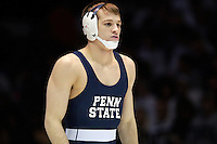 STATE COLLEGE, PA - FEBRUARY 16: David Taylor of the Penn State Nittany Lions during a match against the Oklahoma State Cowboys on February 16, 2014 at Rec Hall on the campus of Penn State University in State College, Pennsylvania. Penn State won 23-12. (Photo by Hunter Martin/Getty Images) *** Local Caption *** David Taylor