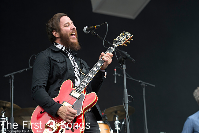 Dante Schwebel of Spanish Gold performs during the Forecastle Music Festival at Waterfront Park in Louisville, Kentucky.