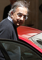 L'amministratore delegato di Fiat Chrysler Sergio Marchionne durante la presentazione della nuova berlina Alfa Romeo Giulia a Palazzo Chigi, Roma, 5 maggio 2016.<br /> Fiat Chrysler CEO Sergio Marchionne attends the presentation of the new Alfa Romeo Giulia sedan at Chigi Palace, Rome, 5 May 2016.<br /> UPDATE IMAGES PRESS/Isabella Bonotto