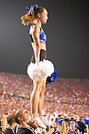 Middle Tennessee State Cheerleders look on as their Blue Raiders lose to the University of Louisville, 58-42.