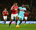 Anthony Martial of Manchester United and West Ham's Alex Song - Manchester United vs West Ham United - Barclay's Premier League - Old Trafford - Manchester - 05/12/2015 Pic Philip Oldham/SportImage