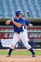 Jake Barnwell (13) of Boyd County High School in Catlettsburg, KY playing for the Chicago Cubs scout team during the East Coast Pro Showcase on August 1, 2014 at NBT Bank Stadium in Syracuse, New York.  (Mike Janes/Four Seam Images)