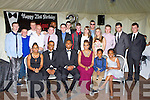 Enrique Cuppan, Fossa seated centre celebrated his 21st birthday with a Black Tie party at his home on Friday night with his family and friends