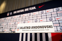 NEW YORK, NY - Monday, October 28, 2019: The United States Women's National Team holds a press conference to announce new head coach Vlatko Andonovski at the Hotel Eventi, New York, NY.