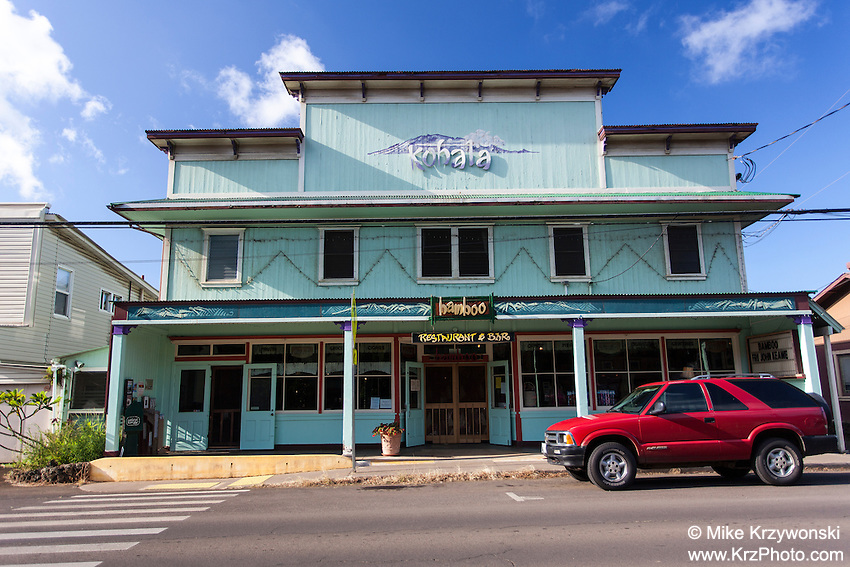 Old building in Hawi, Big Island, Hawaii