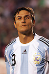 June 04 2008:  Javier Zanetti (Internazionale / ITA) (8) of Argentina.  During Mexico's 2008 USA Tour in preparation for qualification for FIFA's 2010 World Cup, the national soccer team of Mexico was defeated by Argentina 1-4 at Qualcomm Stadium, in San Diego, CA.