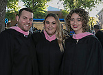 David Schwartz, Jessica Baronet and Brittney May during the University of Nevada College of Liberal Arts and Donald W. Reynolds School of Journalism graduation ceremony on Saturday morning, May 20, 2017.