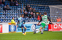 Paris Cowan-Hall of Wycombe Wanderers in the area as he is fouled for a penalty during the Sky Bet League 2 match between Wycombe Wanderers and Yeovil Town at Adams Park, High Wycombe, England on 14 January 2017. Photo by Andy Rowland / PRiME Media Images.