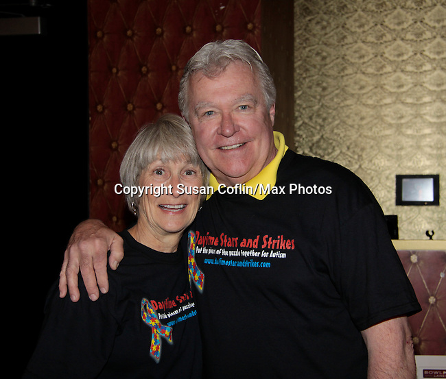 - 11th Annual Daytime Stars & Strikes Event for Autism - 2015 on April 19, 2015 hosted by Guiding Light's Jerry ver Dorn (& OLTL) and Liz Keifer at Bowlmor Lanes Times Square, New York City, New York. (Photos by Sue Coflin/Max Photos)