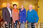 Tony O'Connor, Eileen O'Connor, Eileen Carrig and Patsy O'Shea from Kilcummin and Tarbert enjoying the Macalla na hEireann 2014 Colmhatas Tour of Ireland in the Tintean Theatre, Ballybunion on Thursday