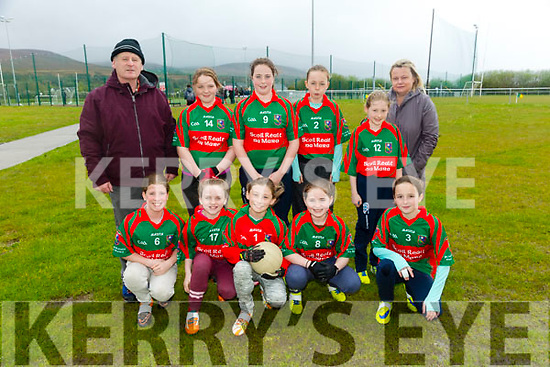 Allianz Cumann na mBunscol  Schools Mini Sevens County finals at  John Mitchels sports complex on Monday coil Realt na Mara, Cromane National School  Tuath ó Siosta. Súsan Ní Thorpa,Clóda de Rochford,Gráinne Nī Bhriain,Maighréad Ní Ghabhãin,Leah Ní Urdail,Bailey Ní Mhuirí,Isibéal Nī Riain,Chloe Nī Chroimin,Aoife Mag Eachãin.Gobnait Ní Dhoinnléibhe with Coach Cian Sugrue and  Coach Ann Bambridge