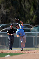 Tampa Bay Rays Jim Haley (38) during a minor league Spring Training game against the Baltimore Orioles on March 29, 2017 at the Buck O'Neil Baseball Complex in Sarasota, Florida.  (Mike Janes/Four Seam Images)