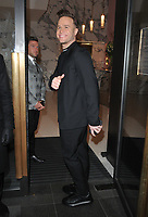 Olly Murs at the LFW (Men's) a/w 2019 GQ Dinner, Brasserie of Light, Selfridges, Duke Street, London, England, UK, on Monday 07 January 2019.<br /> CAP/CAN<br /> &copy;CAN/Capital Pictures