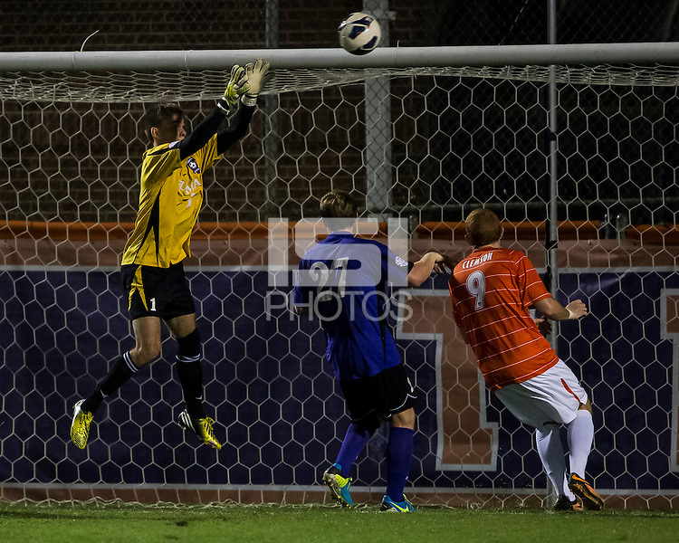 The number 24 ranked Furman Paladins took on the number 20 ranked Clemson Tigers in an inter-conference game at Clemson's Riggs Field.  Furman defeated Clemson 2-1.  Sven Lissek (1), Eric Steber (27), Iain Smith (9)
